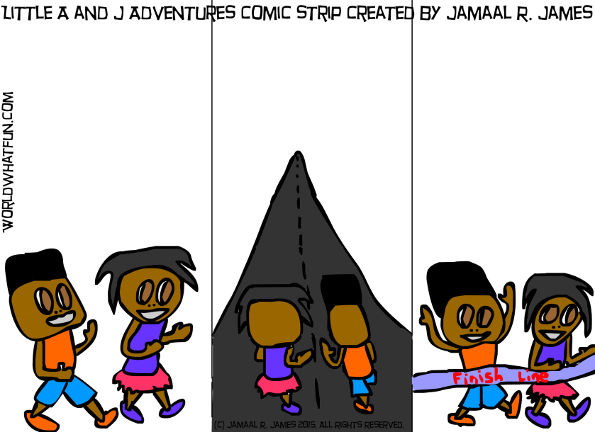 Little A and J's Adventures Comic Strip created by Jamaal R James for James Creative Arts and Entertainment Company