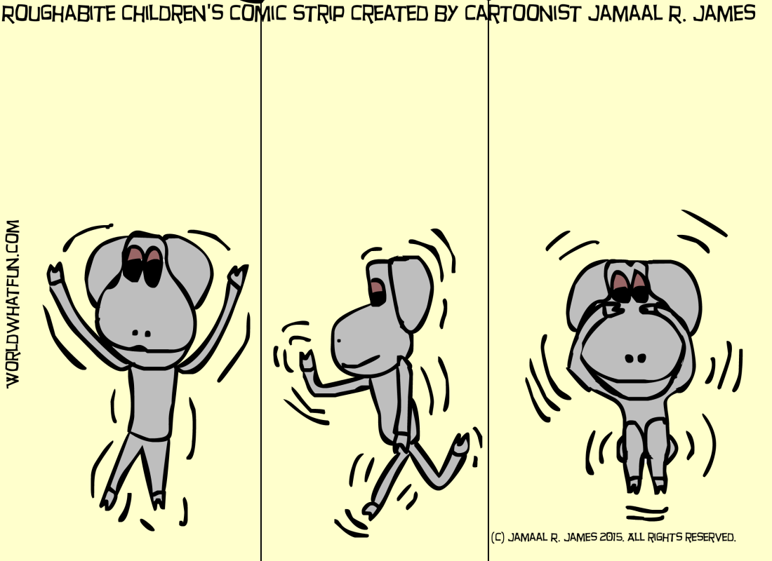 Roughabite Comic Strip created by Cartoonist  Jamaal R. James for James Creative Arts And Entertainment Company.