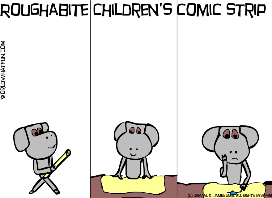 Roughabite Children's Comic Strip created by Cartoonist Jamaal R. James for James Creative Arts And Entertainment Company.
