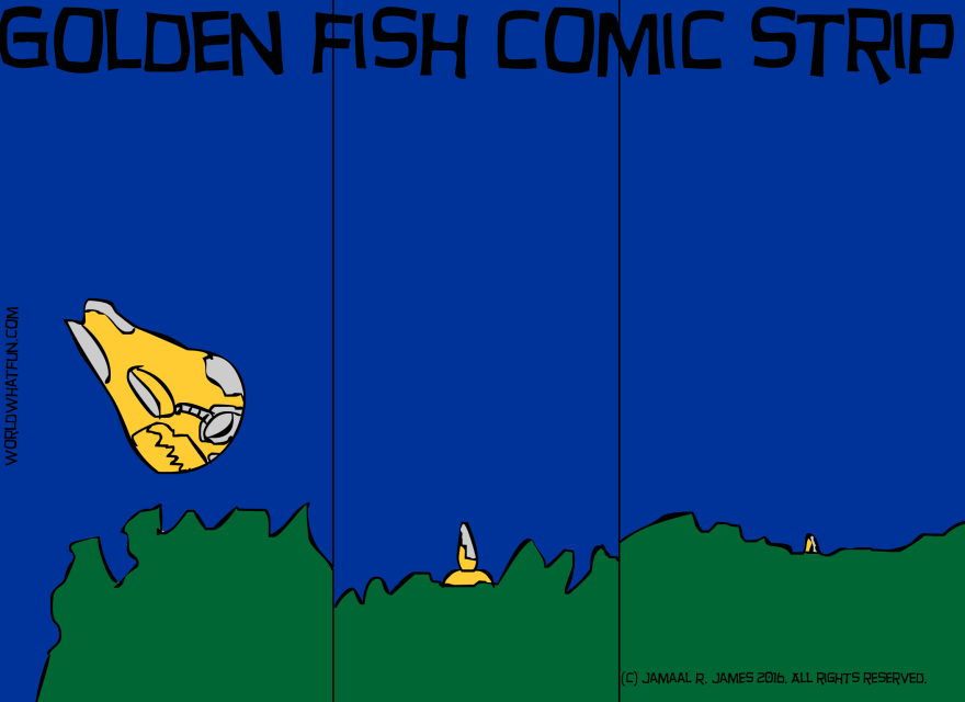 The Golden Fish Picture Book comic created by Cartoonist Jamaal R. James for James Creative Arts And Entertainment Company.