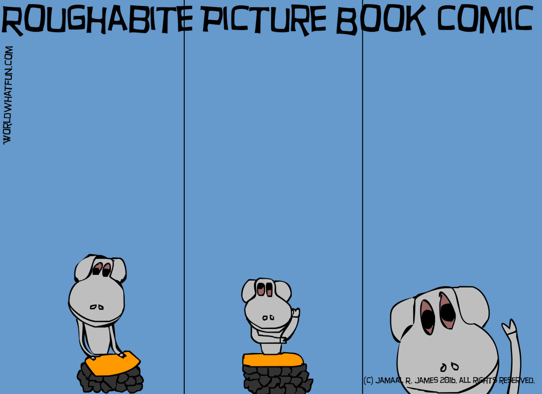 Roughabite Picture Book Comic created by Cartoonist Jamaal R. James for James Creative Arts And Entertainment Company. illustraion, children's literature
