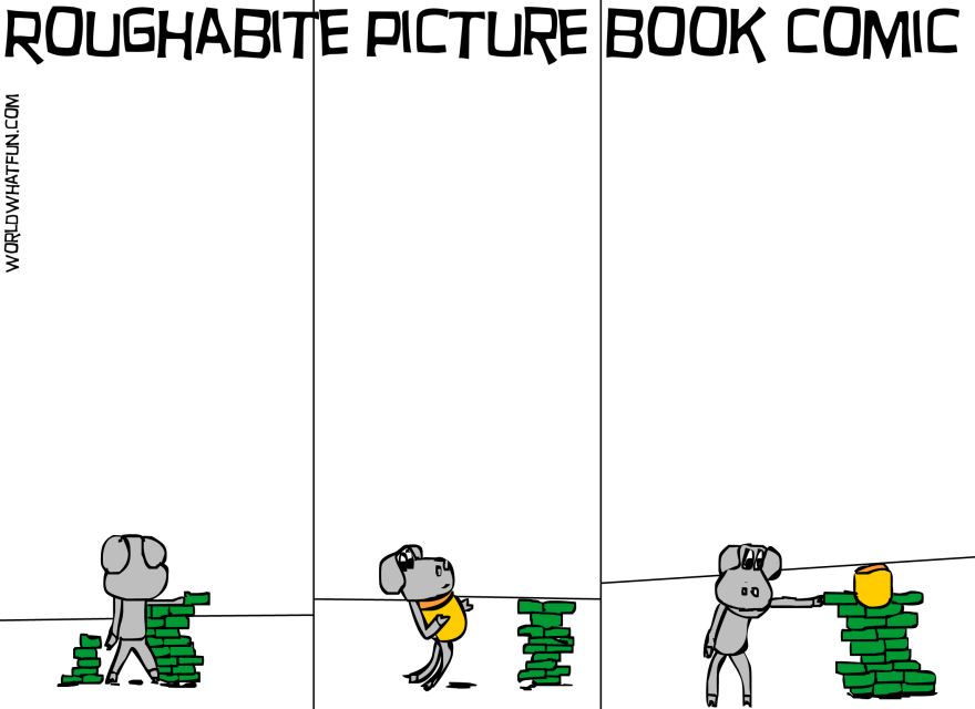 Roughabite Picture Book comic created by Cartoonist Jamaal R. James For James Creative Arts And Entertainment company. builder. illustrator.
