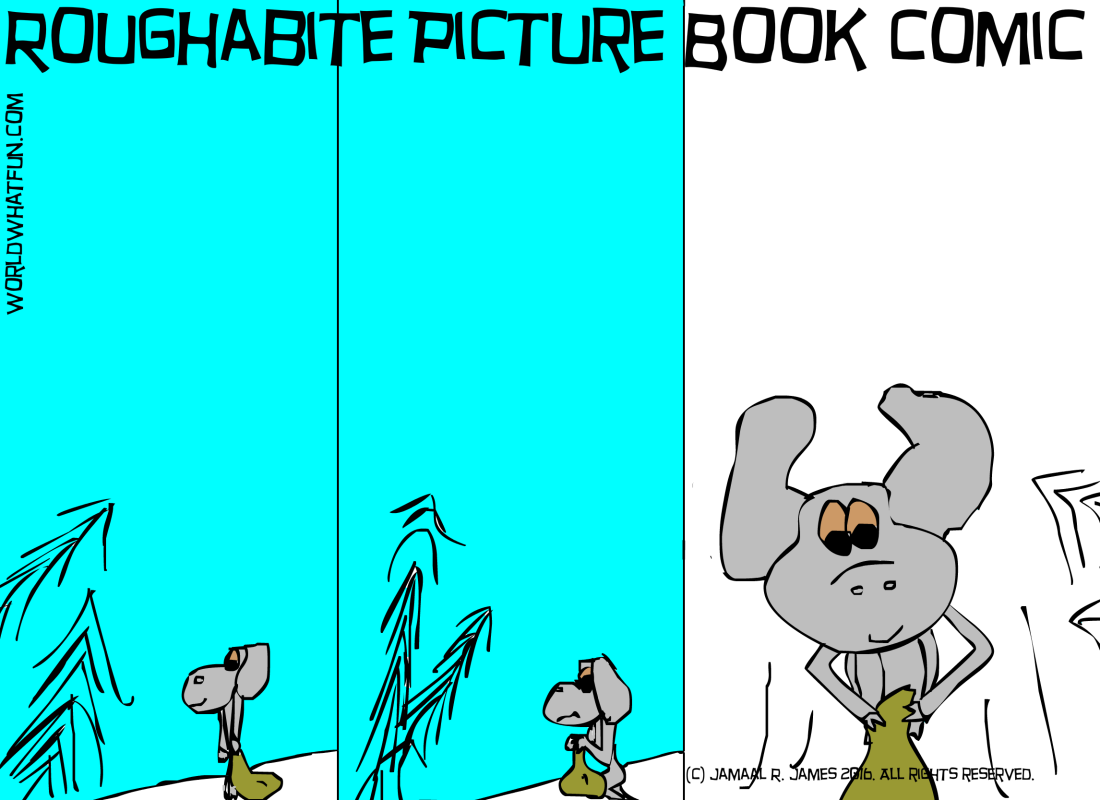 Roughabite Children's Picture Book Comic created by Cartoonist Jamaal R. James for James Creative Arts And Entertainment Company. illustration. children's literature
