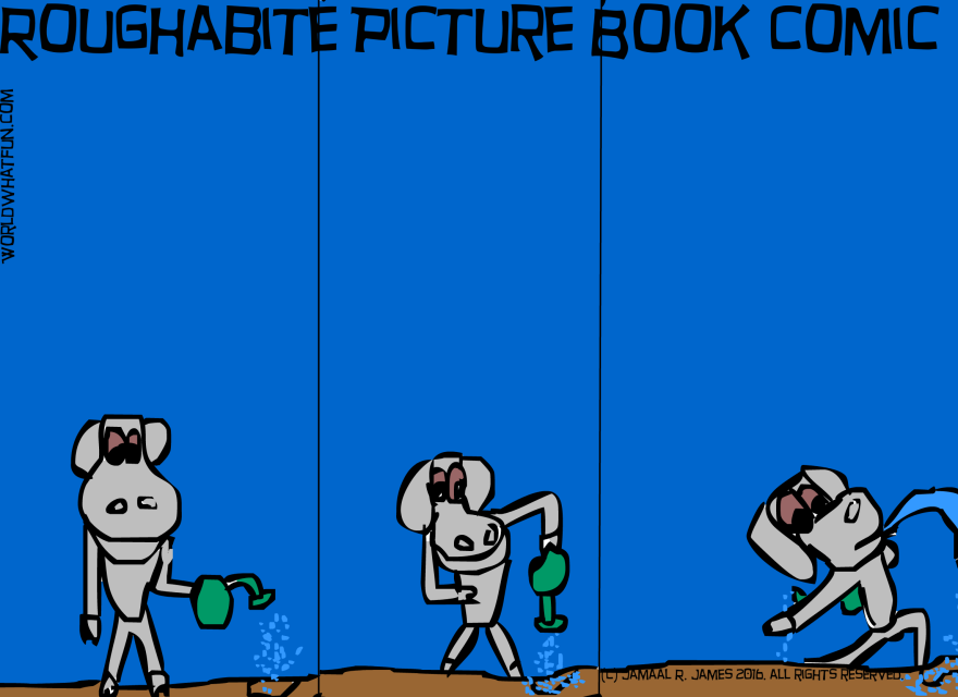 Roughabite Picture Book Comic created by Cartoonist Jamaal R. James for James Creative Arts And Entertainment Company. illustrator.