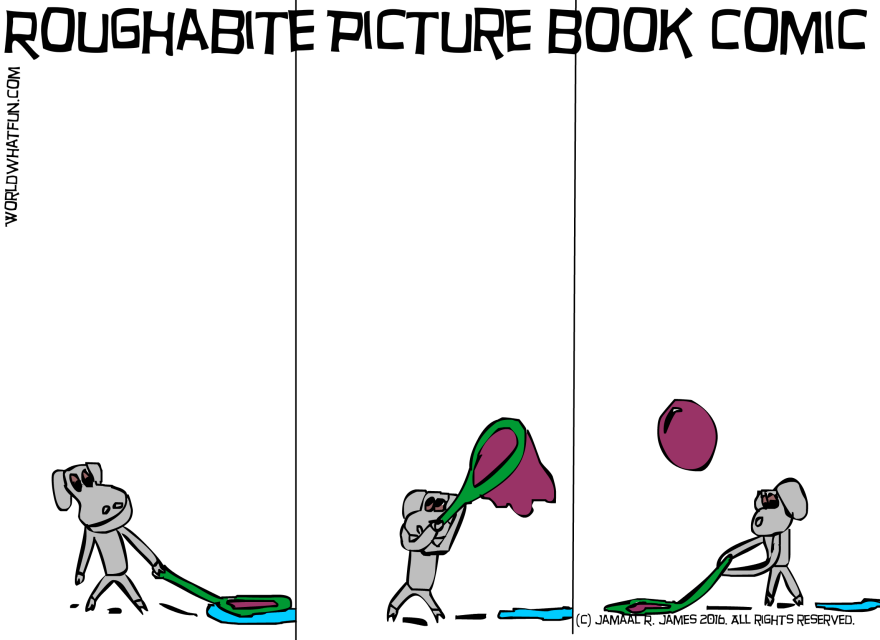 Roughabite Picture Book Comic created by Cartoonist Jamaal R. James for James Creative Arts And Entertainment Company. children's picture book