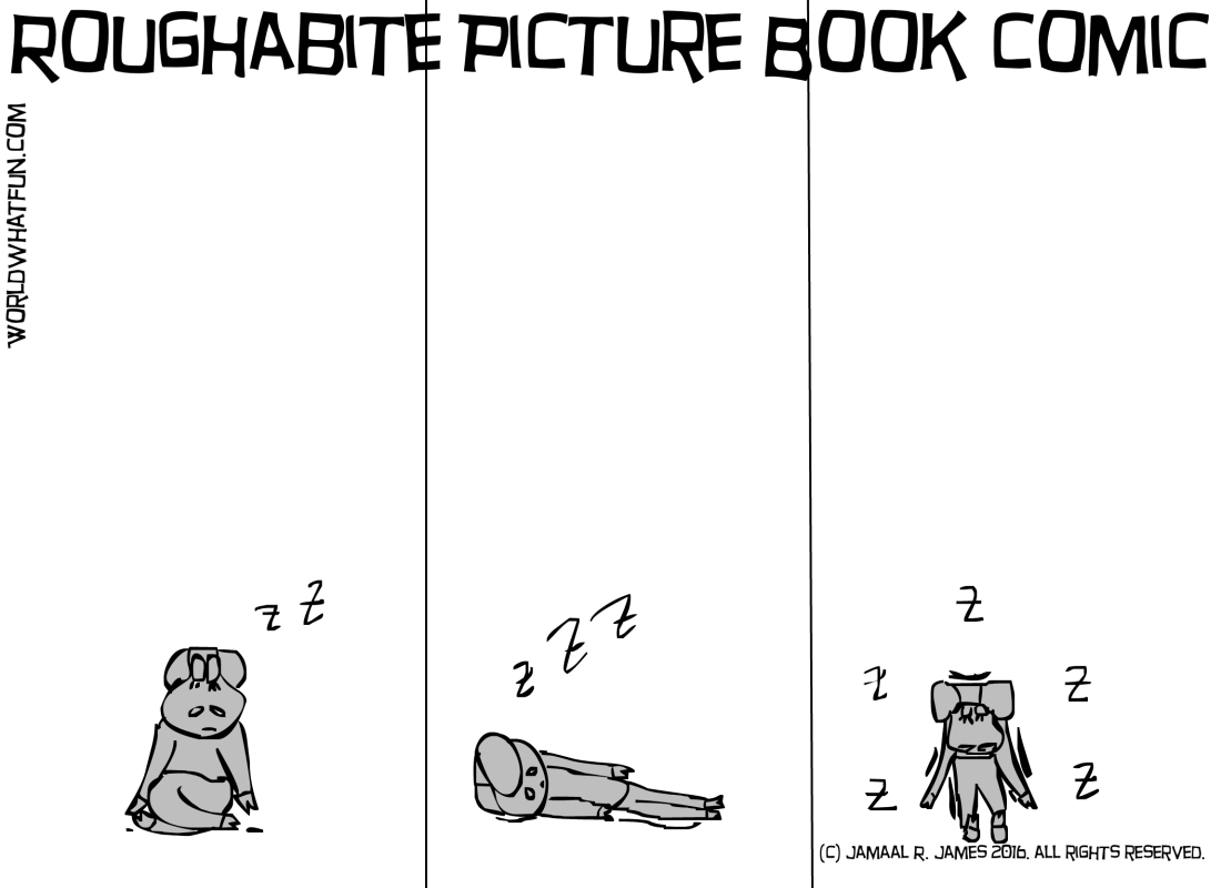 Roughabite Picture Book comic created by Cartoonist Jamaal R. James for James Creative Arts And Entertainment Company. book illustrator