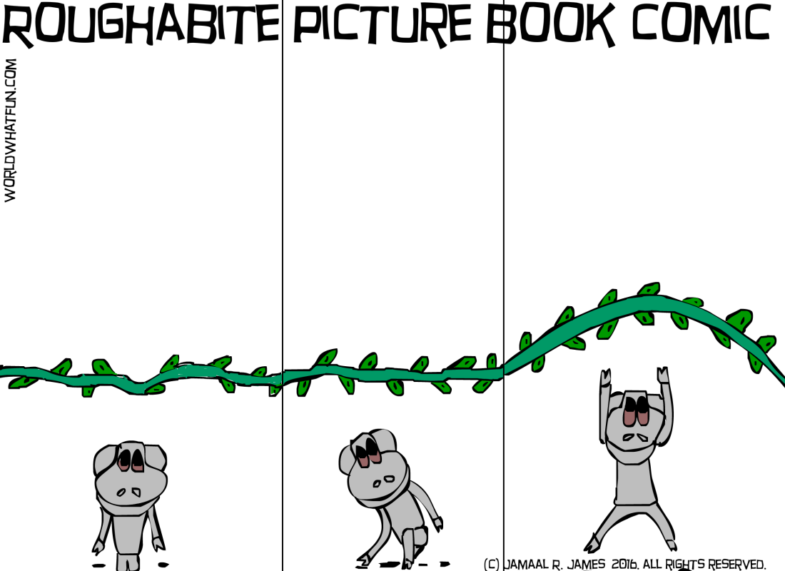 Roughabite Picture Book comic created by Cartoonist Jamaal R. James for James Creative Arts And Entertainment Company. illustration