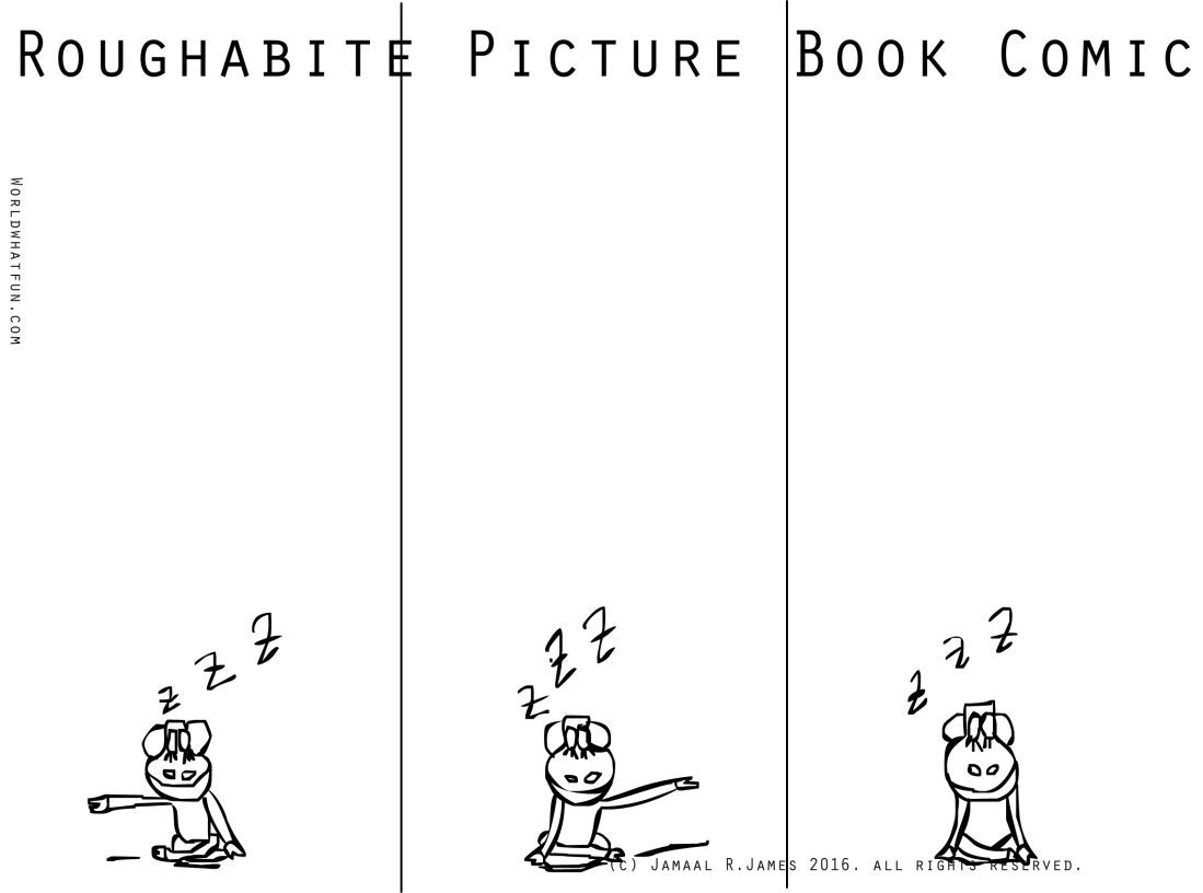 Roughabite Picture Book Comic created by Cartoonist Jamaal R. James for James Creative Arts And Entertainment Company. illustrator