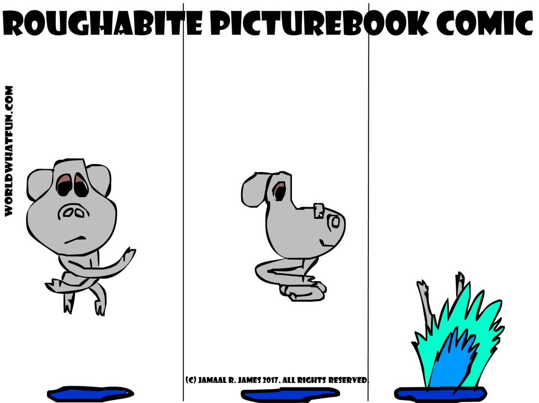 Roughabite Comic Art created by Cartoonist Jamaal R. James for James Creative Arts And Entertainment Company.
