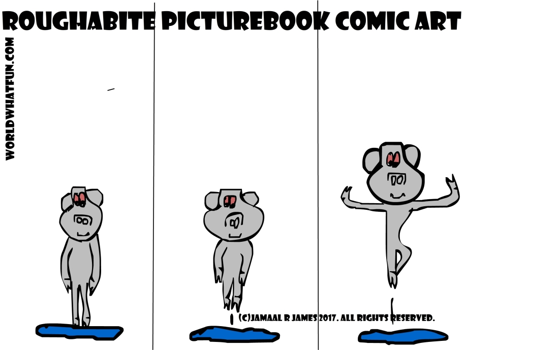 Roughabite PictureBook Comic created by Cartoonist Jamaal R. James for James Creative Arts And Entertainment Company.