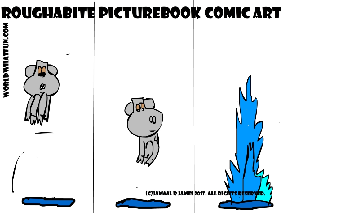 Roughabite PictureBook Comic created by Cartoonist Jamaal R. James for James Creative Arts And Entertainment Company.  jcaaec