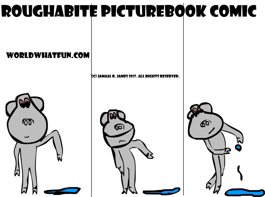 Roughabite Children's PictureBook Comic by Cartoonist Jamaal R. James for James Creative Arts And Entertainment Company. jcaaec