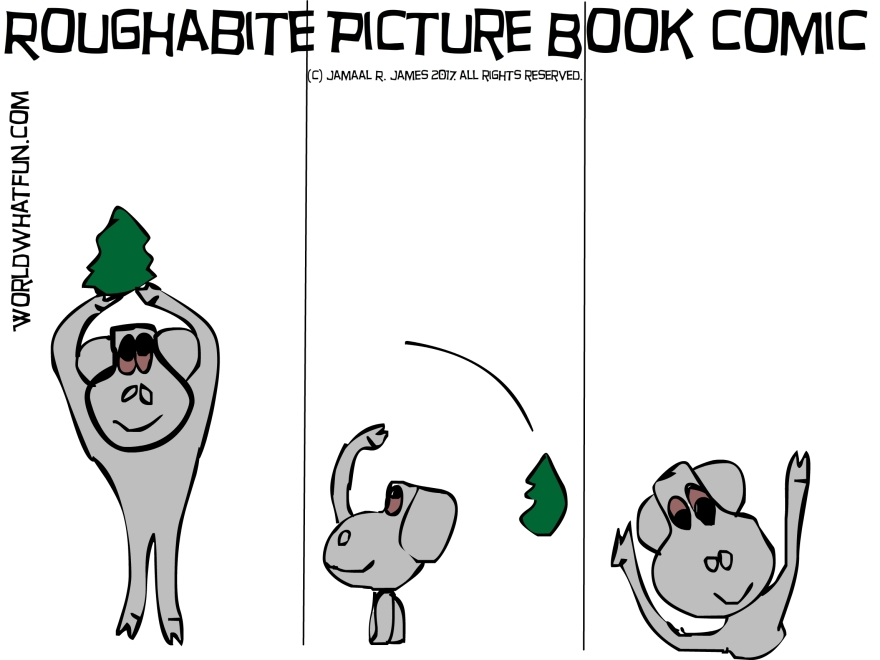 Roughabite Children's PictureBook Comic created by Cartoonist Jamaal R. James for James creative arts And Entertainment Company. jcaaec