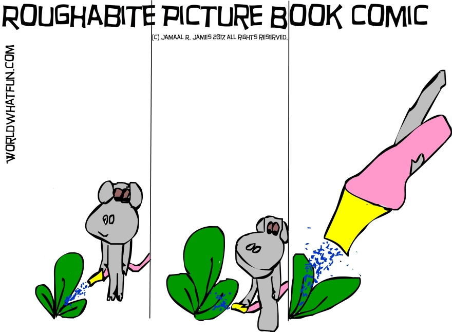 Roughabite Picture Book Children comic created by Cartoonist Jamaal R. James for James Creative arts and entertainment company. jcaaec