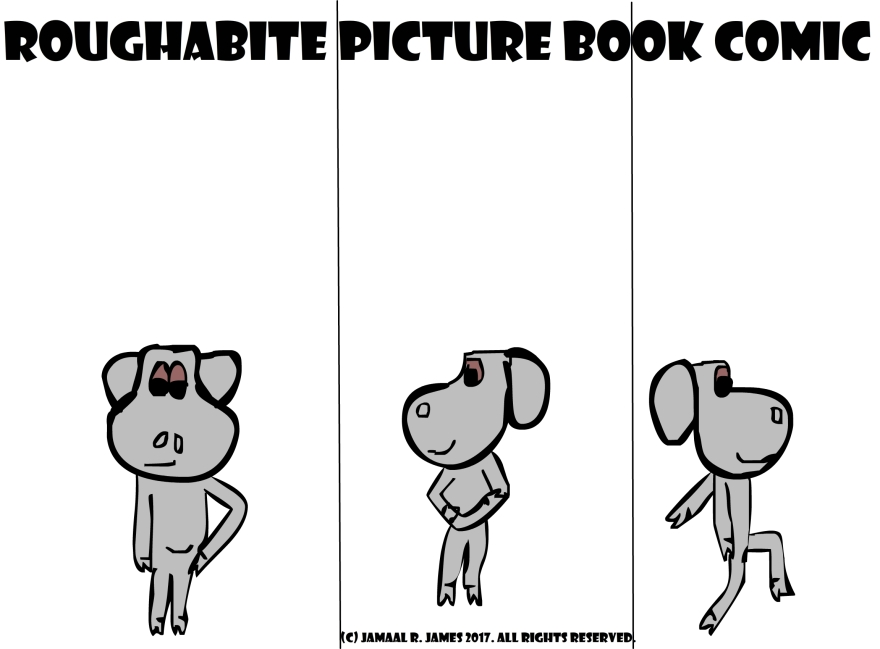Roughabite Picture Book Comic created by Cartoonist Jamaal R. James for JCAAEC
