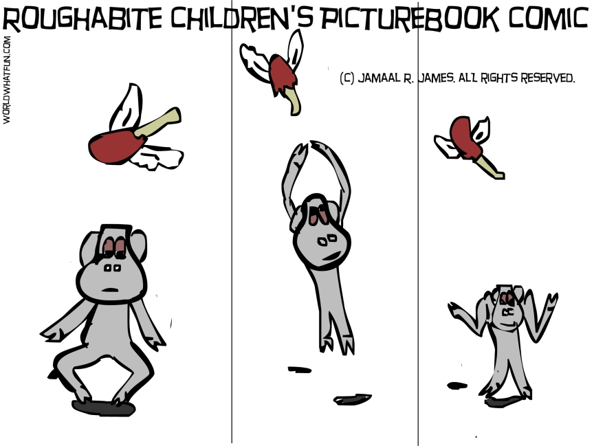 Roughabite childrens literature comic by Cartoonist Jamaal R. James for James Creative Arts And Entertainment Company.