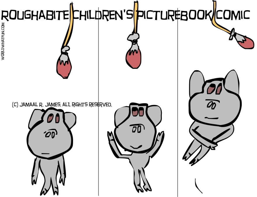 Roughabite is chasing after a turkey leg cartoon for James Creative arts And Entertainment Company.