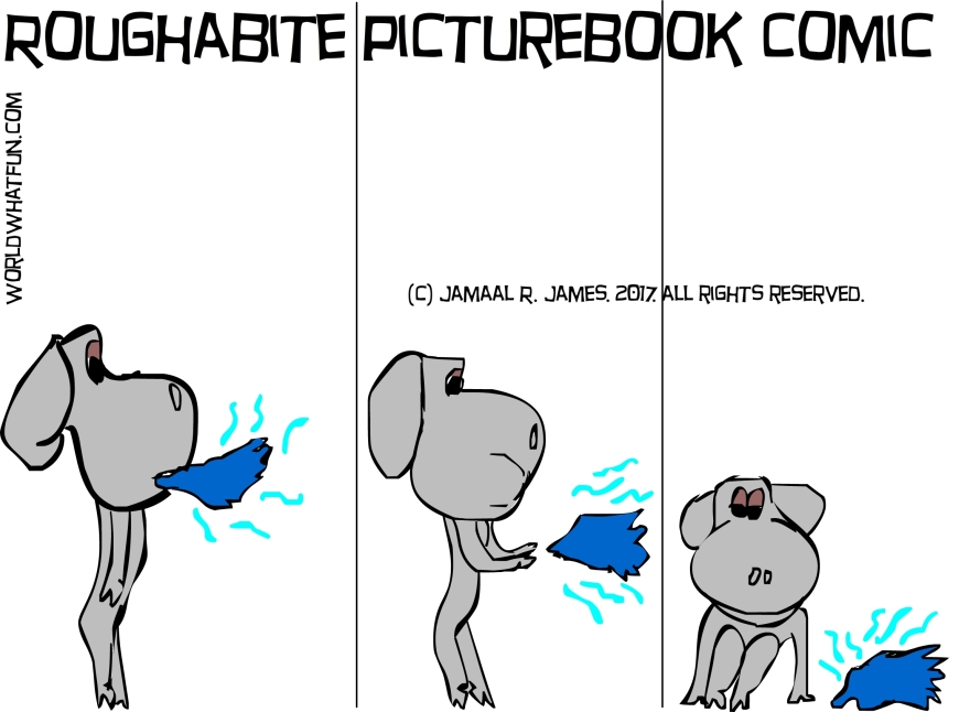 Roughabite-childrensbook-comic-art-james creative arts and entertainment company.